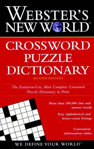 9780028612126: Webster's New World Crossword Puzzle Dictionary