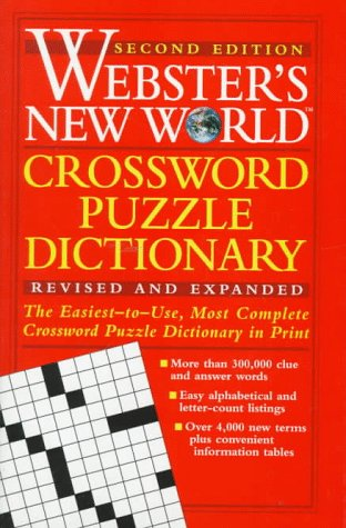 9780028612133: Webster's New World Crossword Puzzle Dictionary
