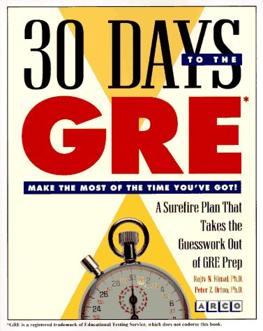 9780028612614: 30 Days to the Gre (30 Day Guides)
