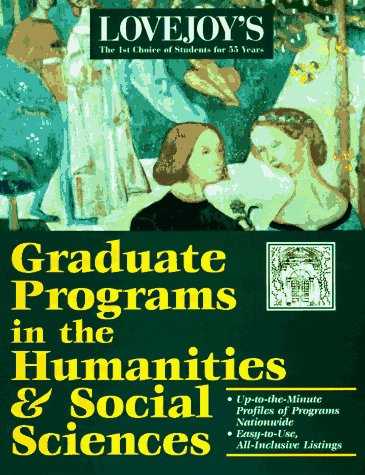 9780028613161: Graduate Programs in Arts, Humanities, & Social Science