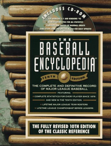9780028614359: The Baseball Encyclopedia : The Complete and Definitive Record of Major League Baseball (Book and CD-ROM)