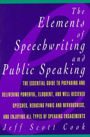 9780028614526: Elements of Speechwriting and Public Speaking (Elements of Series)