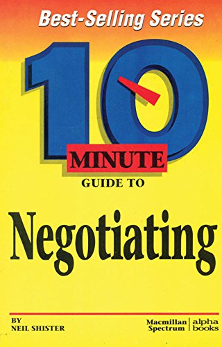 9780028616155: 10 Minute Guide to Negotiating (10 Minute Guides)