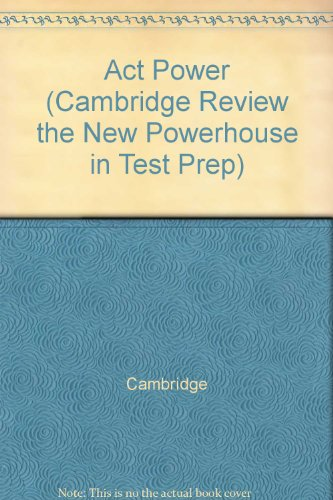 9780028616919: Act Power (Cambridge Review the New Powerhouse in Test Prep)