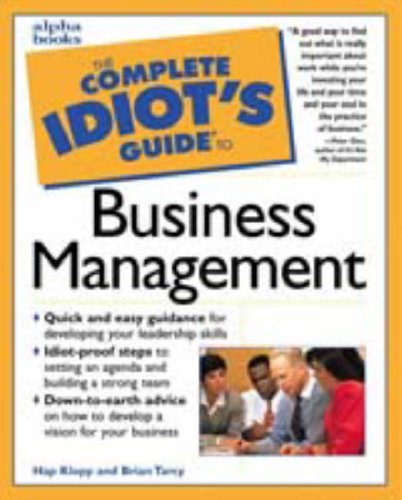 9780028617442: The Complete Idiot's Guide to Business Management (Complete Idiot's Guides)