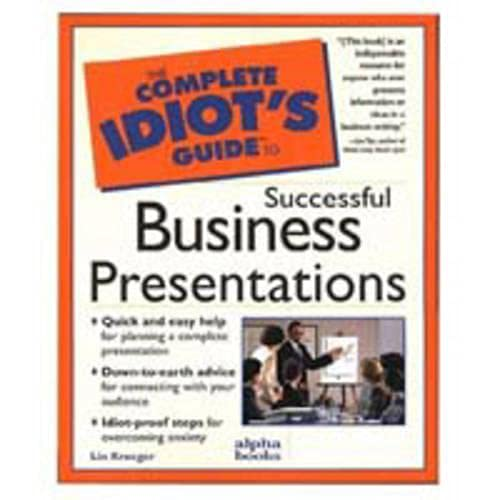 9780028617480: Complete Idiot's Guide to Successful Business Presentation (The Complete Idiot's Guide)