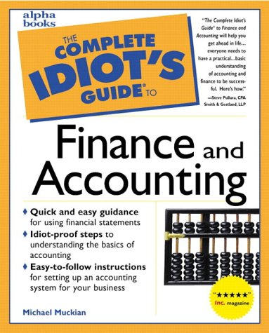 9780028617527: Complete Idiot's Guide to Finance and Accounting