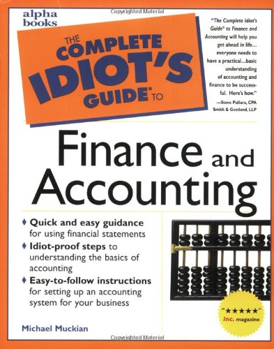 9780028617527: The Complete Idiot's Guide to Finance and Accounting
