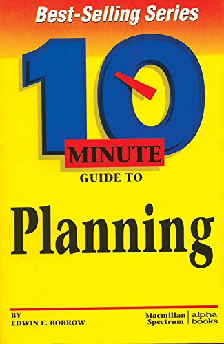9780028618180: 10 Minute Guide to Planning (10 Minute Guides)