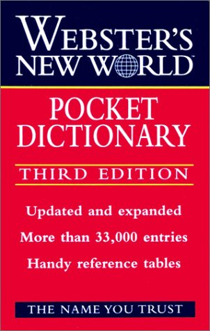 Webster's New World Pocket Dictionary