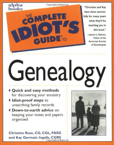 9780028619477: The Complete Idiot's Guide to Genealogy
