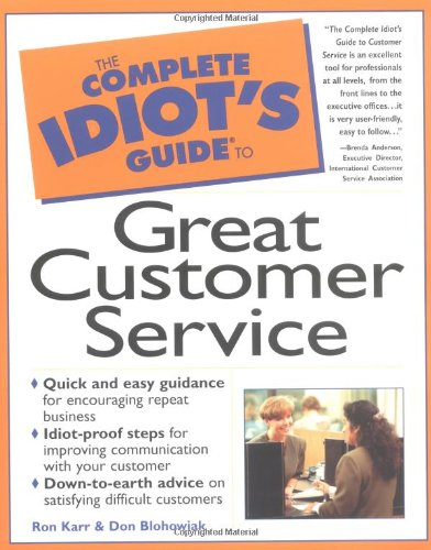 9780028619538: The Complete Idiot's Guide to Great Customer Service