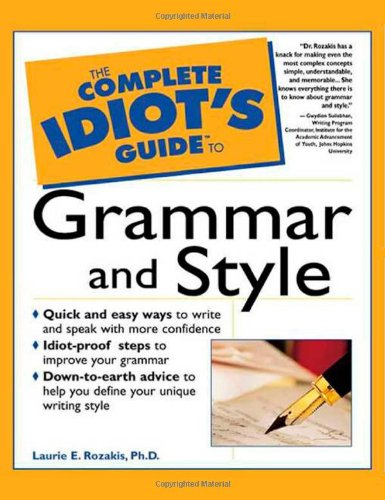 9780028619569: The Complete Idiot's Guide to Grammar and Style
