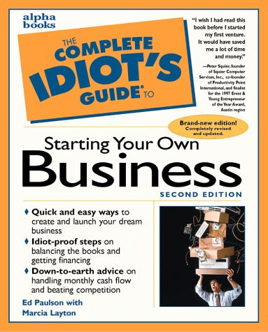 9780028619798: The Complete Idiot's Guide to Starting Your Own Business