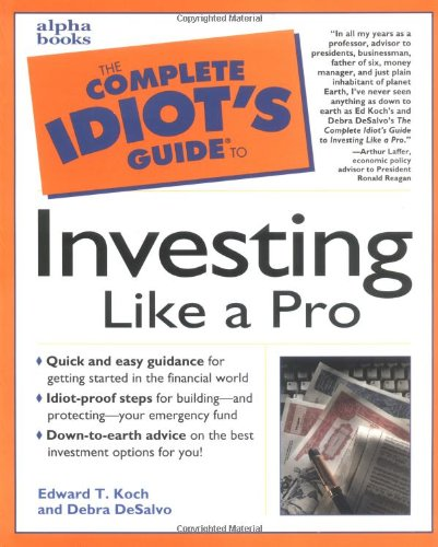 9780028620442: The Complete Idiot's Guide to Investing like a Pro