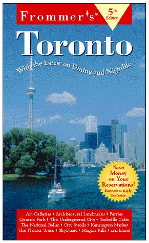 9780028621067: Frommer's Guide to Toronto (Frommer's guides)