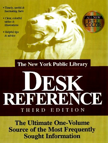 9780028621692: The New York Public Library Desk Reference