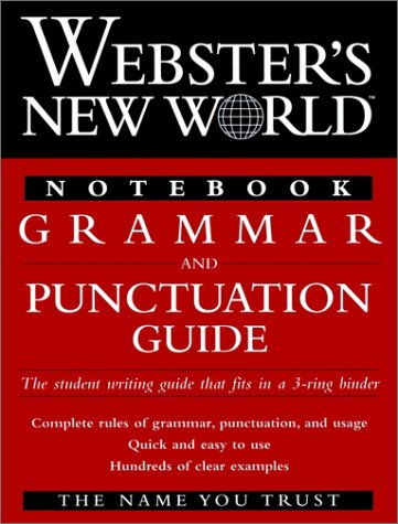 9780028623788: Webster's New World Notebook Grammar and Punctuation Guide