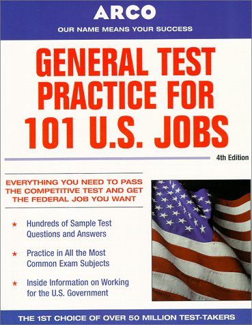 9780028625058: Arco General Test Practice for 101 U.S. Jobs