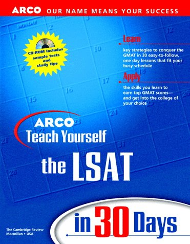 9780028625164: Arco Teach Yourself Lsat in 30 Days (Arcos Teach Yourself in 24 Hours Series)