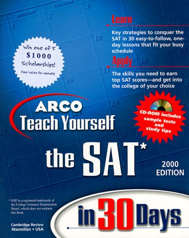 9780028625195: ARCO Teach Yourself the SAT in 30 Days