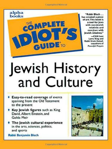 9780028627113: The Complete Idiot's Guide to Jewish History and Culture