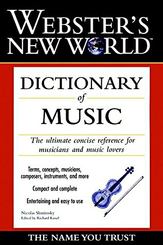 9780028627472: Webster's New World Dictionary of Music
