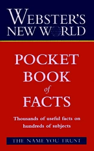 9780028627502: Pocket Book of Facts (Webster's new world)