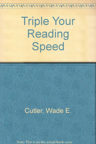 9780028628172: Triple Your Reading Speed