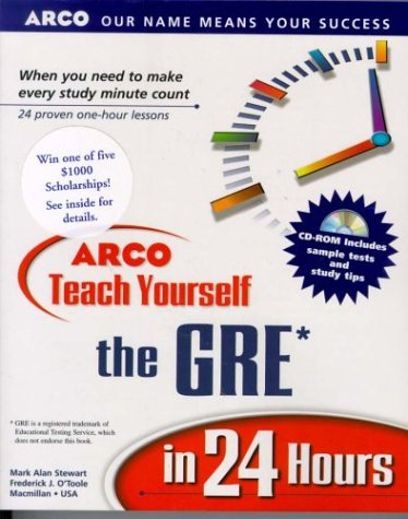 9780028628646: ARCO Teach Yourself the GRE in 24 Hours, w/ CD-ROM