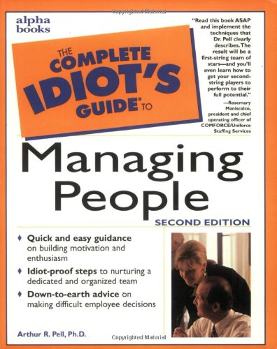 9780028629339: The Complete Idiot's Guide to Managing People