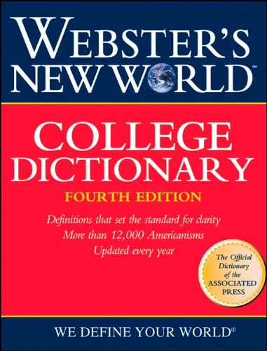9780028631189: Webster's New World College Dictionary, 4th Edition (Thumb-Indexed)
