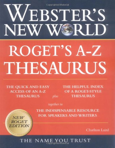 9780028631226: Webster's New World Roget's A-Z Thesaurus