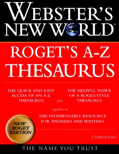 9780028631233: Webster's New World Roget's A-Z Thesaurus