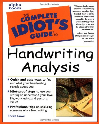 9780028632025: The Complete Idiot's Guide to Handwriting Analysis