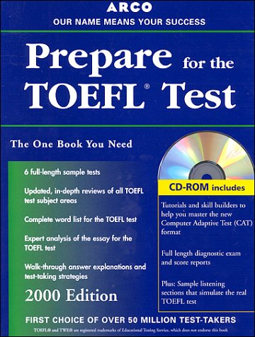 9780028632209: Arco Everything You Need to Score High on the Toefl: 2000 Edition With the Latest Information on the New Computer-Based Toefl (Arco Master the TOEFL (W/CD))
