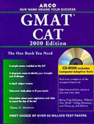 9780028632230: Arco Everything You Need to Score High on the Gmat Cat: 2000 Edition (Master the Gmat)
