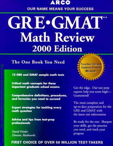 9780028632476: GRE/GMAT Math Review 5th ED (Arco GRE GMAT Math Review)