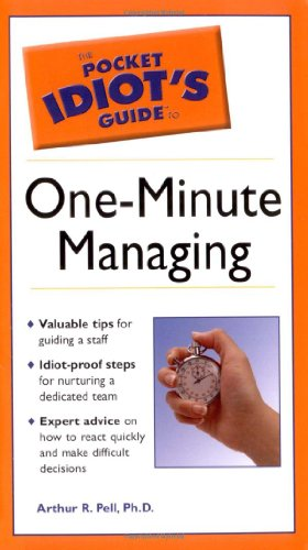 9780028633435: Pocket Idiot's Guide to One-minute Managing, The