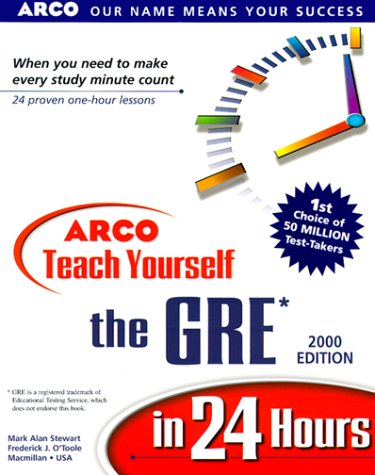9780028633732: Arco Teach Yourself the Gre in 24 Hours
