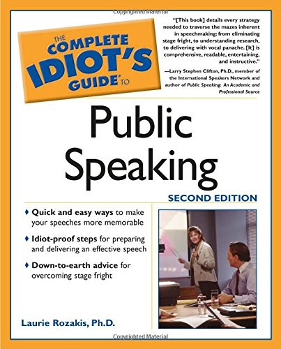 9780028633831: The Complete Idiot's Guide to Speaking in Public with Confidence