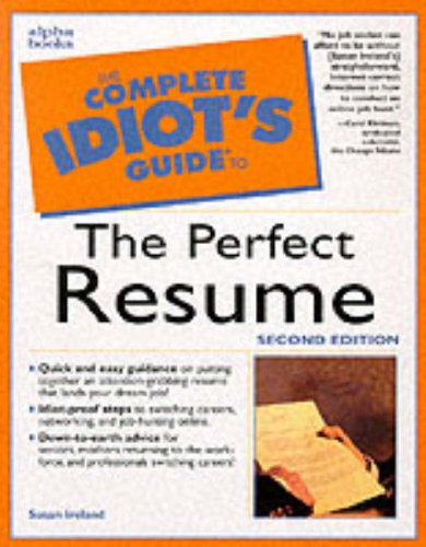 9780028633947: The Complete Idiot's Guide to the Perfect Resume, Second Edition (2nd Edition)