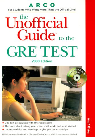 9780028634586: UG/The GRE W/CD-ROM 2000 Edition (Unofficial Guides)
