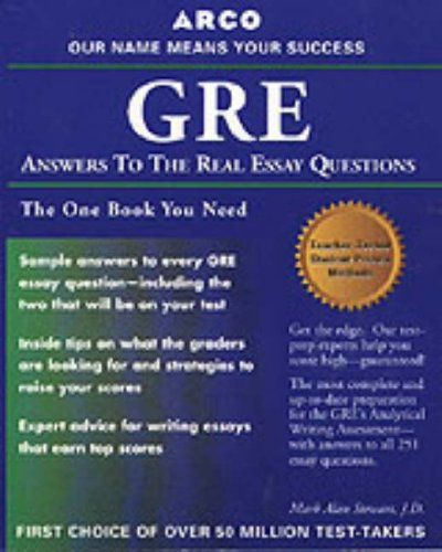 9780028635453: GRE CAT Answers to Real Essay Questions