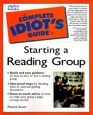 9780028636542: The Complete Idiot's Guide to Starting a Reading Group