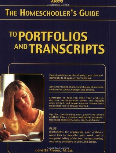 9780028637389: Homeschooler's Guide to Portfolios and Transcripts