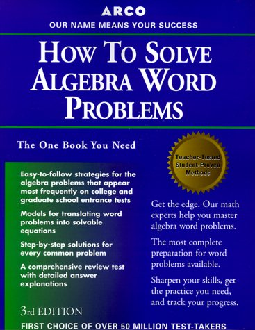 9780028637440: How to Solve Algebra Word Problems (Study Aids/On-the-Job Reference)