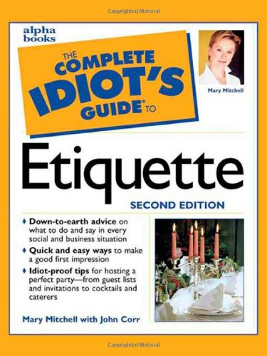 9780028638485: The Complete Idiot's Guide to Etiquette, Second Edition