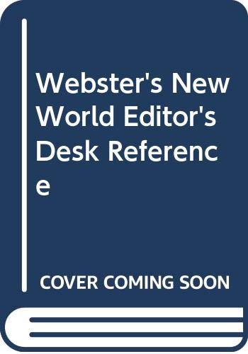 9780028638560: Webster's New World Editor's Desk Reference with CDROM