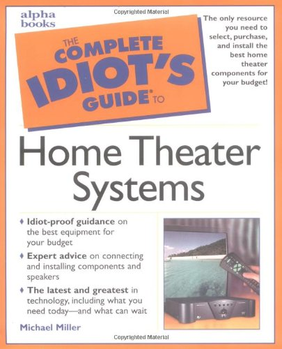 9780028639390: Complete Idiot's Guide to Home Theater Systems